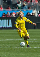 31 March 2011: Columbus Crew defender/midfielder Eric Gehrig #16 in action during a game between the Columbus Crew and the Toronto FC at BMO Field in Toronto, Ontario Canada..The Columbus Crew won 1-0.