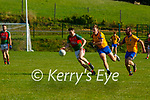 Philip O'Leary Kilcummin goes past Nathan Breen during their IFC clash in Kilcummin on Saturday