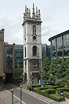 St Mary Somerset Gardens. Upper Thames Street City of London UK. St Mary Somerset church destroyed in the Great Fire of London rebuilt and demolished in 1871 except for the tower.