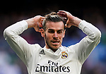 Gareth Bale of Real Madrid adjusts his hair  during the La Liga 2018-19 match between Real Madrid and Real Valladolid at Estadio Santiago Bernabeu on November 03 2018 in Madrid, Spain. Photo by Diego Souto / Power Sport Images