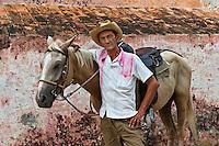 Cowboy with his horse, Orlando Graela