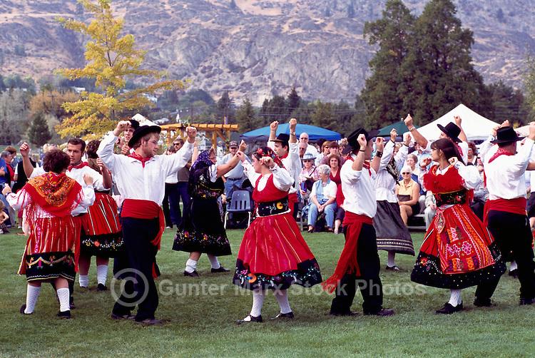 Portuguese Folk Dancers at Annual Festival of the Grape, Oliver, BC, South Okanagan Valley, British Columbia, Canada