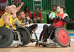 Cody Caldwell, Rio 2016 - Wheelchair Rugby // Rugby En Fauteuil roulant.<br /> Canada vs. Australia in Wheelchair Rugby Mixed - Pool Phase Group A, Match 12 // Le Canada affronte l'Australie en Rugby en fauteuil roulant mixte - Phase de poule, groupe A, match 12. 16/09/2016.