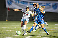 Mary-Frances Monroe tries to catch up to a pass. The Boston Breakers defeated the Chicago Red Stars 1-0, at Harvard Stadium, in Cambridge, MA, Wednesday, July 15, 2009.