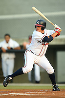 Danville Braves outfielder Jerry Verastegui (14) stands in to take his swings versus the Greeneville Astros at American Legion Field in Danville, VA, Saturday, July 1, 2006.