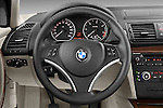 Steering wheel view of a 2004 - 2011 BMW 1-Series 118i 5 Door Hatchback 2WD.