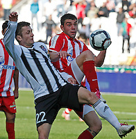 Red Star Pavle Ninkov, right and Sasa Ilic, from Partizan, fight for the ball, during the Serbian League soccer match in Belgrade, Serbia, Saturday, October  24, 2010. (Srdjan Stevanovic/Starsportphoto.com)