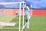 Real Madrid's Thibaut Courtois during La Liga match. October 31, 2020. (ALTERPHOTOS/Acero)