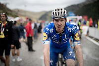 Tim Declercq (BEL/Deceuninck - Quick Step) after finishing the stage where the weather turned foul in the finale<br /> <br /> Stage 9: Andorra la Vella to Cortals d'Encamp (94km) - ANDORRA<br /> La Vuelta 2019<br /> <br /> ©kramon