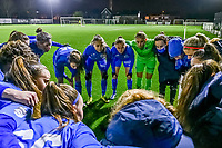Team Genk pictured before a female soccer game between Sporting Charleroi and KRC Genk Ladies on the 9th matchday of the 2020 - 2021 season of Belgian Scooore Womens Super League , friday 11 th of December 2020  in Marcinelle , Belgium . PHOTO SPORTPIX.BE | SPP | STIJN AUDOOREN