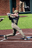 Vanderbilt Commodores designated hitter Parker Noland (25) takes a swing against the South Carolina Gamecocks at Hawkins Field in Nashville, Tennessee, on March 21, 2021. The Gamecocks won 6-5. (Danny Parker/Four Seam Images)