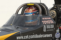 Nov 4, 2007; Pomona, CA, USA; NHRA top fuel dragster driver Rod Fuller during the Auto Club Finals at Auto Club Raceway at Pomona. Mandatory Credit: Mark J. Rebilas-US PRESSWIRE