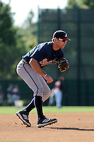 Infielder Travis Matter (78) of the Atlanta Braves farm system in a Minor League Spring Training workout on Tuesday, March 17, 2015, at the ESPN Wide World of Sports Complex in Lake Buena Vista, Florida. (Tom Priddy/Four Seam Images)