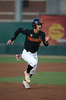 Christian Moya (2) of the Southern California Trojans runs the bases during a game against the Arizona State Sun Devils at Dedeaux Field on March 24, 2017 in Los Angeles, California. Southern California defeated Arizona State, 5-4. (Larry Goren/Four Seam Images)