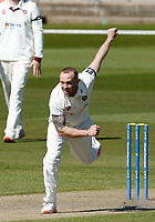 15th April 2021; Emirates Old Trafford, Manchester, Lancashire, England; English County Cricket, Lancashire versus Northants; Luke Procter of Northamptonshire bowling