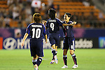 (L to R) Kumi Yokoyama, Yoko Tanaka, Hikaru Naomoto (JPN), .AUGUST 26, 2012 - Football / Soccer : .FIFA U-20 Women's World Cup Japan 2012, Group A .match between Japan 4-0 Switzerland .at National Stadium, Tokyo, Japan. .(Photo by Daiju Kitamura/AFLO SPORT) [1045]