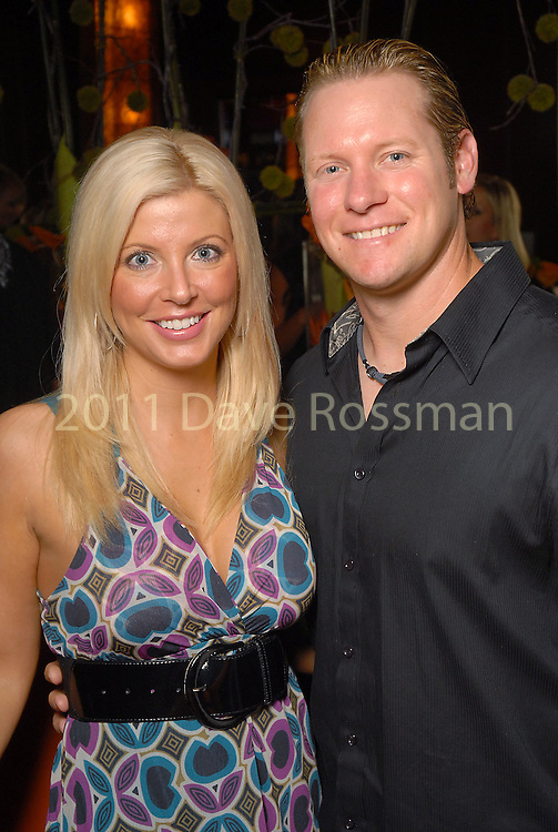 Pamela and Jason Michaels at the Astros Wives party at Mo's..A Place for Steaks Sunday evening June 07,2009.(Dave Rossman/For the Chronicle)