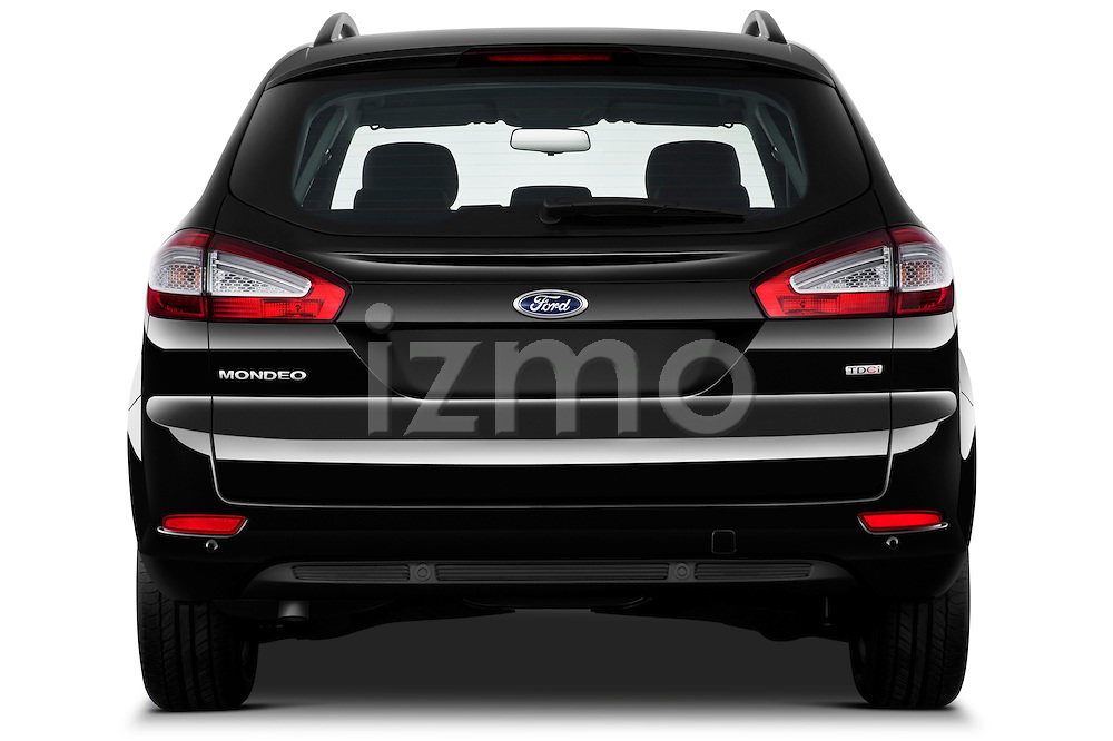 Straight rear view of 2011 Ford Mondeo Trend Wagon Stock Photo