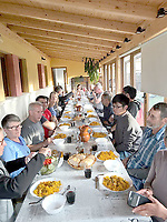 Photo Submitted <br /> A communal meal with friends made along the way.