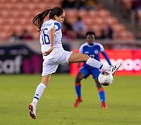 HOUSTON, TX - JANUARY 31: Katherine Alvarado #16 of Costa Rica controls the ball during a game between Haiti and Costa Rica at BBVA Stadium on January 31, 2020 in Houston, Texas.