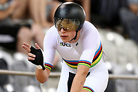 Laurence Pithie finishes first in the U19 Men Elite Omnium Points Race 20km during the 2020 Vantage Elite and U19 Track Cycling National Championships at the Avantidrome in Cambridge, New Zealand on Friday, 24 January 2020. ( Mandatory Photo Credit: Dianne Manson )