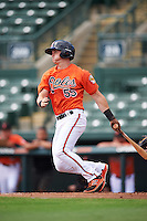 Baltimore Orioles right fielder Austin Hays (55) during an Instructional League game against the Tampa Bay Rays on September 19, 2016 at Ed Smith Stadium in Sarasota, Florida.  (Mike Janes/Four Seam Images)