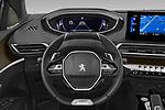 Car pictures of steering wheel view of a 2021 Peugeot 5008 GT 5 Door SUV Steering Wheel