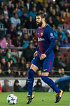 Gerard Pique Bernabeu of FC Barcelona during the UEFA Champions League 2017-18 match between FC Barcelona and Olympiacos FC at Camp Nou on 18 October 2017 in Barcelona, Spain. Photo by Vicens Gimenez / Power Sport Images