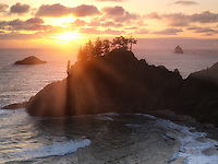 Sunset at Samuel H. Boardman State Scenic Corridor. Oregon
