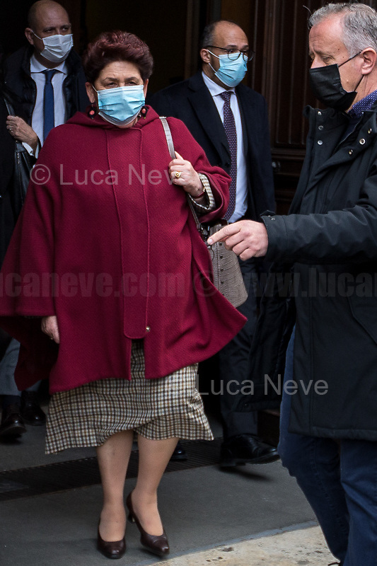 Rome, Italy. 09th Feb, 2021. Teresa Bellanova MP, member of the delegation of Italia Viva Party leaves the Italian Parliament after meeting the designated Italian Prime Minister - and former President of the European Central Bank -, Mario Draghi. Today is the last day of Mario Draghi's consultations at Palazzo Montecitorio, meeting delegations of the Italian political parties in his attempt to form the new Italian Government.
