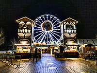 Pictured: The Alpine Village Christmas attraction in Swansea, Wales, UK. <br /> Re: The Welsh Government has decided to order the closure of Christmas attractions due to the ongoing Covid-19 Coronavirus pandemic, UK.