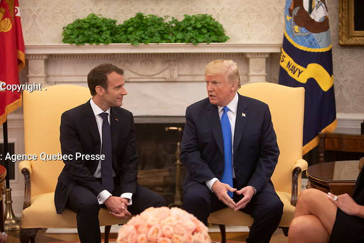 President Trump and President Macron of France (Official White House Photo by Joyce N. Boghosian)