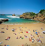 France, Aquitaine (Pays Basque), Biarritz: Plage Du Port-Vieux | Frankreich, Aquitanien (Baskenland), Biarritz: Plage Du Port-Vieux