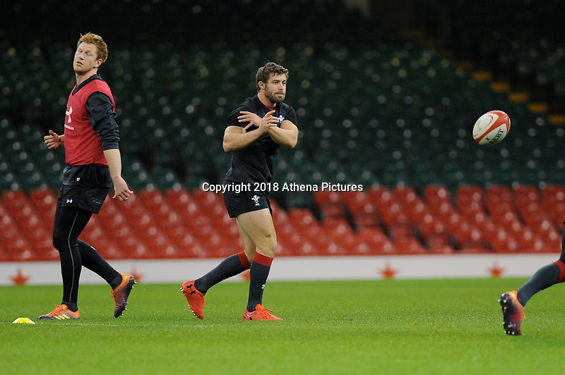 Leigh Halfpenny of Wales during the Wales Captains Run at The Principality Stadium in Cardiff, Wales, UK. Friday 16 November 2018