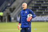 KANSAS CITY, KS - JULY 15: Brad Guzan #22 of the United States during a game between Martinique and USMNT at Children's Mercy Park on July 15, 2021 in Kansas City, Kansas.