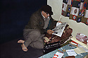 Iran 1980  <br /> In Rajan, Aziz Akrawi, Kurdish intellectual, reading newspaper in his room<br /> Iran 1980<br /> Aziz Akrawi lisant le journal dans sa chambre de Rajan