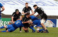 15 January 2021; Adam McBurney is tackled by Greg McGrath during the A Interprovincial match between Ulster and Leinster at Kingspan Stadium in Belfast. Photo by John Dickson/Dicksondigital