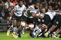 17th July 2021; Hamilton, New Zealand;  Peceli Yato comes off the back of the maul running. All Blacks versus Fiji, Steinlager Series, international rugby union test match. FMG Stadium Waikato, Hamilton, New Zealand.