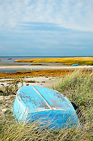 Beached rowboat, Orleans, Cape Cod, MA.