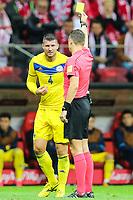 04.09.2017, Warszawa, pilka nozna, kwalifikacje do Mistrzostw Swiata 2018, Polska - Kazachstan, Viktor Dmitrenko (KAZ), sedzia Andris Treimanis, Poland - Kazakhstan, World Cup 2018 qualifier, football, fot. Tomasz Jastrzebowski / Foto Olimpik<br /><br /> POLAND OUT !!! *** Local Caption *** +++ POL out!! +++<br /> Contact: +49-40-22 63 02 60 , info@pixathlon.de
