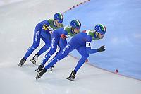SPEEDSKATING: 15-02-2020, Utah Olympic Oval, ISU World Single Distances Speed Skating Championship, Team Pursuit Men, Team Italy (ITA), ©photo Martin de Jong