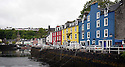 THE BESSIE ELLEN TRAVEL FEATURE.<br /> The brightly coloured quayside of Tobermory on the island of Mull in the Inner Hebrides, Scotland.<br /> Photo:Clare Kendall<br /> 24/05/2016