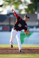 Batavia Muckdogs starting pitcher Jordan Holloway (56) delivers a pitch during a game against the State College Spikes on June 24, 2016 at Dwyer Stadium in Batavia, New York.  State College defeated Batavia 10-3.  (Mike Janes/Four Seam Images)