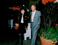 1989 FILE PHOTO - ARCHIVES -<br /> <br /> Former prime minister Pierre Trudeau renewed aquaintances with actress-director Margot Kidder last night. The pair left a Bay St. restaurant without attending a Toronto film festival party.