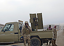 Iraq 2015 A check point with peshmergas at the entrance of Sinjar<br />
