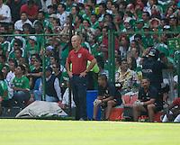 Bob Bradley. USA Men's National Team loses to Mexico 2-1, August 12, 2009 at Estadio Azteca, Mexico City, Mexico. .   .