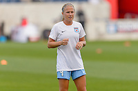 Chicago, IL - Saturday July 30, 2016: Alyssa Mautz prior to a regular season National Women's Soccer League (NWSL) match between the Chicago Red Stars and FC Kansas City at Toyota Park.