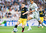 Kevin Gameiro of Atletico de Madrid in action during their 2016-17 UEFA Champions League Semifinals 1st leg match between Real Madrid and Atletico de Madrid at the Estadio Santiago Bernabeu on 02 May 2017 in Madrid, Spain. Photo by Diego Gonzalez Souto / Power Sport Images