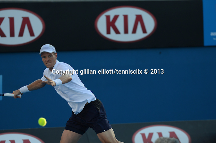Tomas Berdych (CZE) wins at Australian Open in Melbourne Australia on 20th January 2013