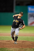 West Virginia Black Bears relief pitcher Ryan Valdes (2) delivers a pitch during a game against the Batavia Muckdogs on June 19, 2018 at Dwyer Stadium in Batavia, New York.  West Virginia defeated Batavia 7-6.  (Mike Janes/Four Seam Images)
